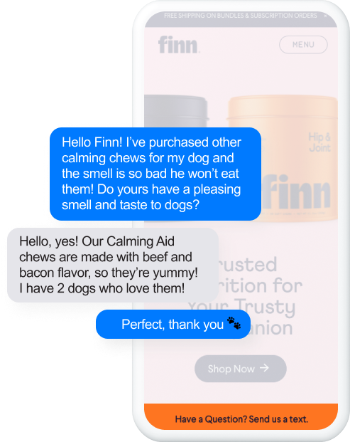 Finn - text us